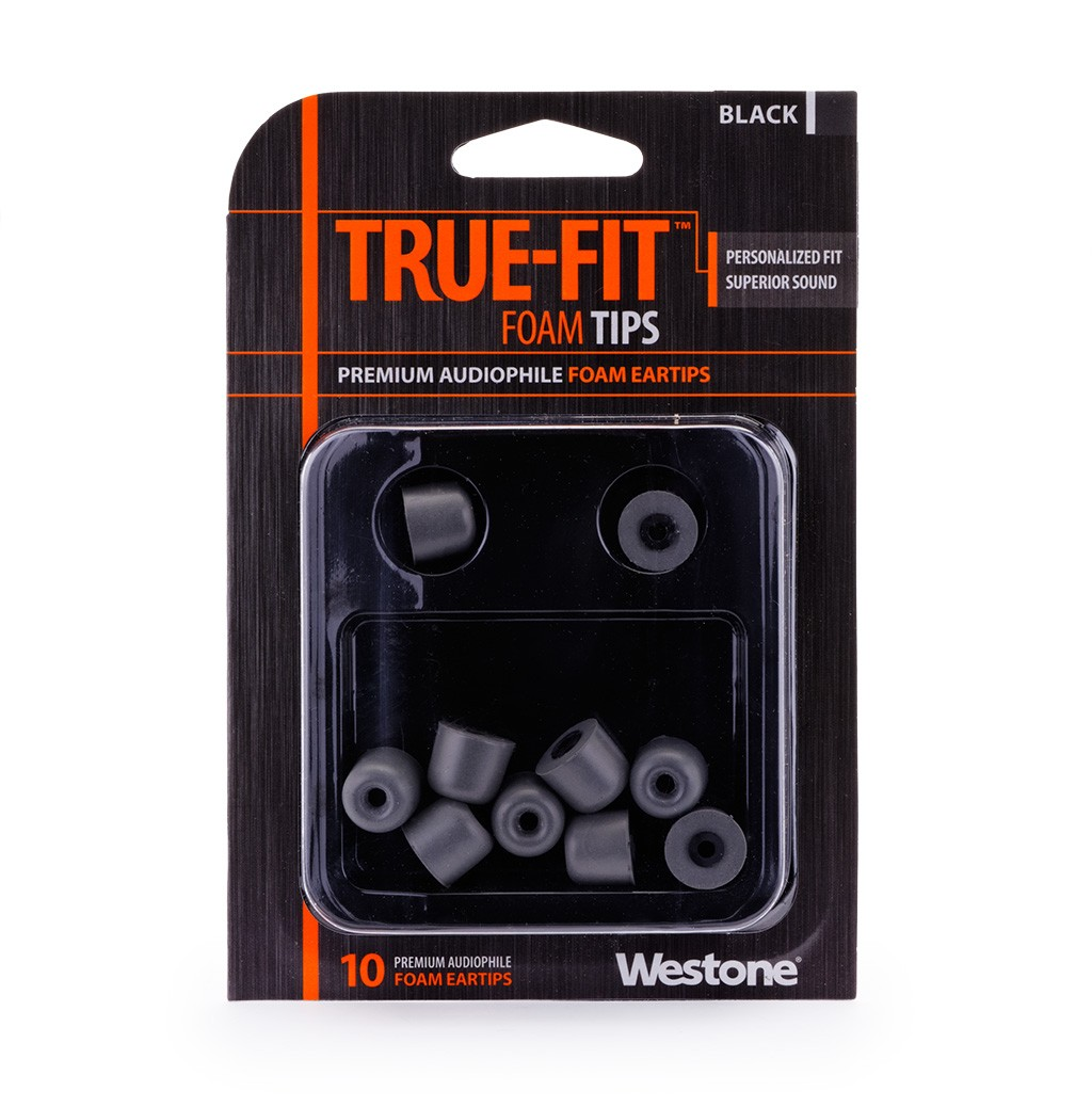 True-Fit Foam Eartips - 12.6mm package