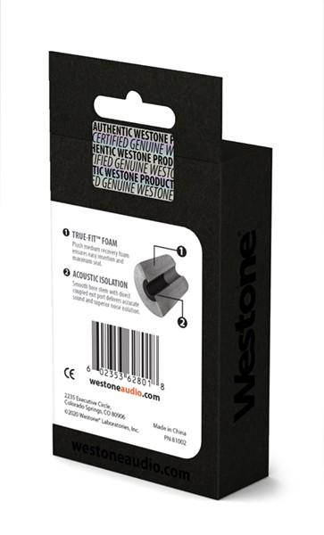 True-Fit Foam Eartips - 12.6mm box back