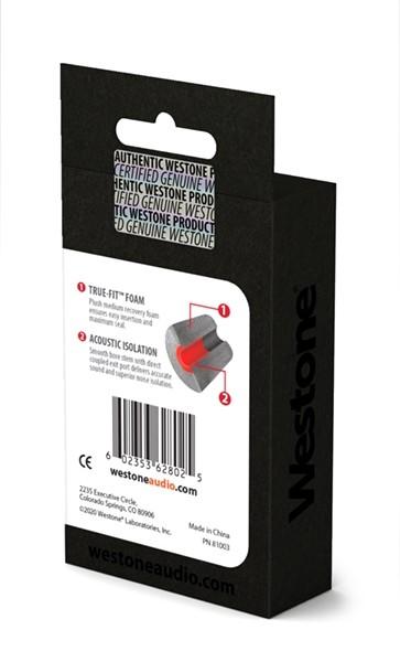 True-Fit Foam Eartips - 15.4mm box back