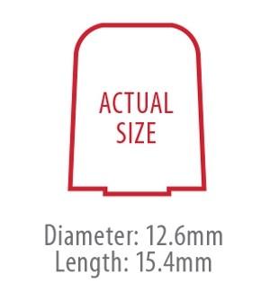 True-Fit Foam Eartips - 15.4mm size