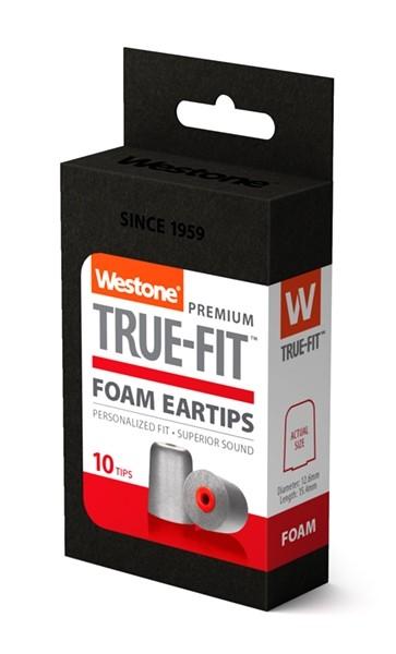 True-Fit Foam Eartips - 15.4mm box side