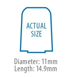 True-Fit Foam Eartips - 14.9mm size