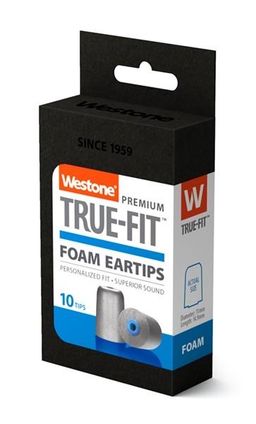 True-Fit Foam Eartips - 14.9mm box side