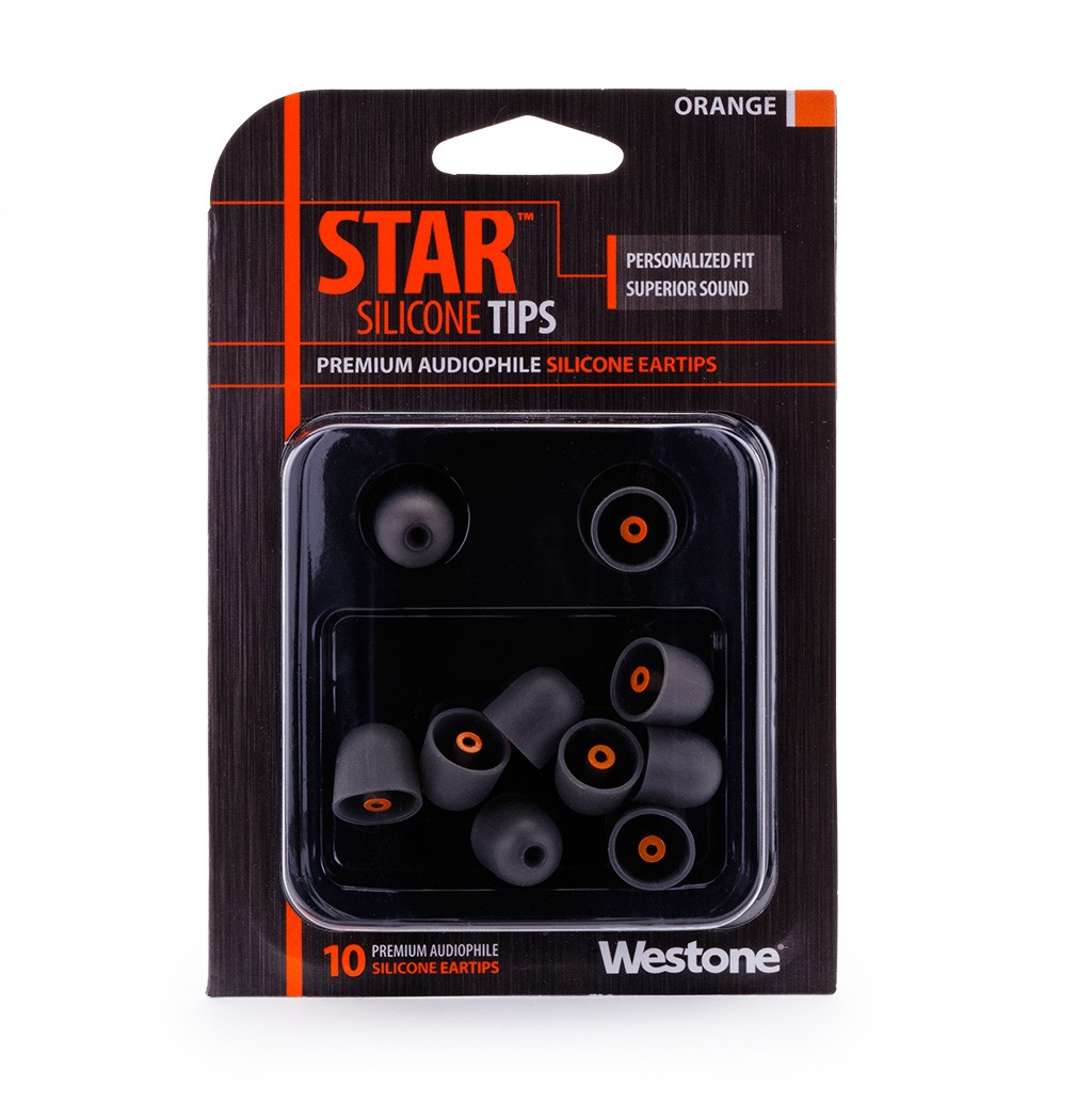 STAR Silicone Eartips 13.5mm - Orange package