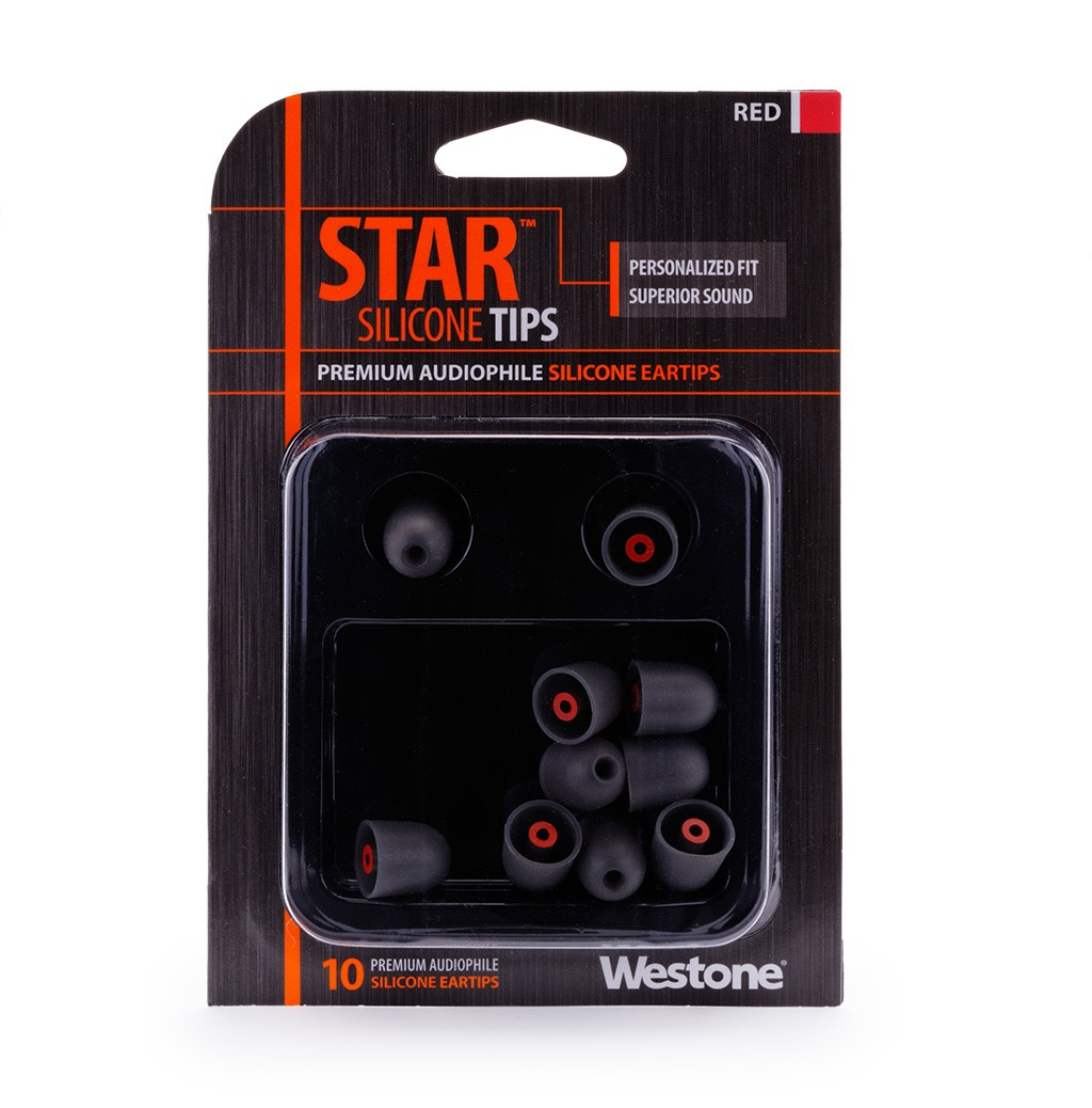 STAR Silicone Eartips 14mm - Red package
