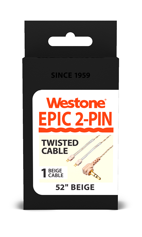 EPIC 2-Pin Replacement Cable - Beige - 52 inches