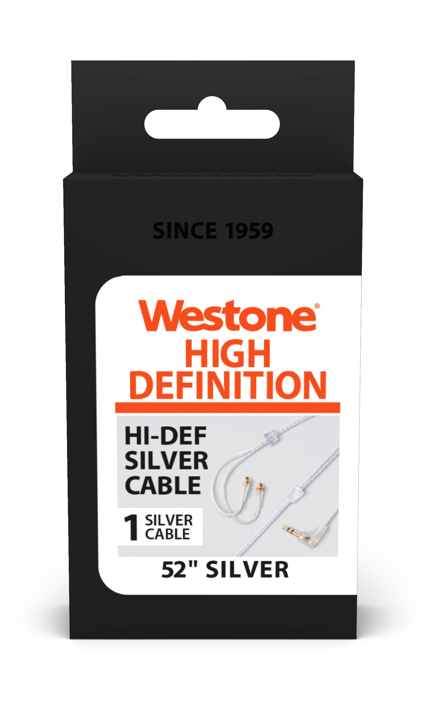 High-Definition Silver MMCX Audio® Cable package