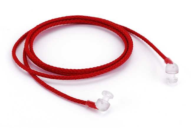 Nylon Cord with Pop Ends, Red