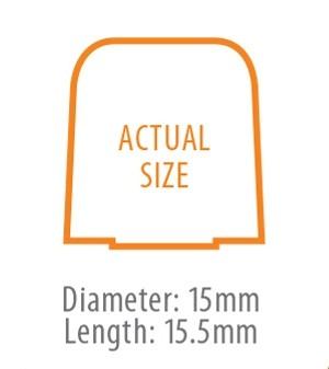 True-Fit Foam Eartip - 15.5mm size