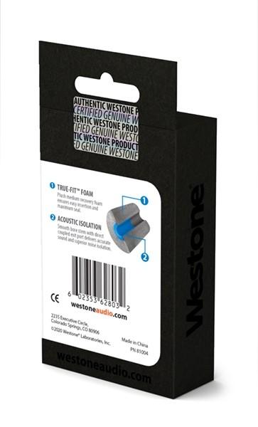 True-Fit Foam Eartips - 14.9mm box back