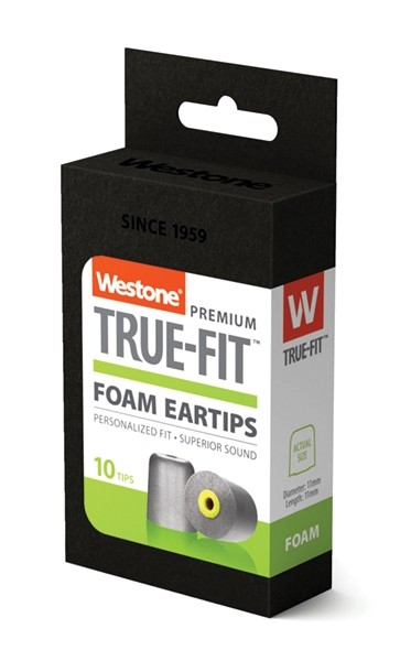 True-Fit Foam Eartips - 11mm box side