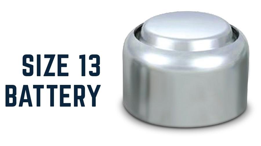 size 13 battery