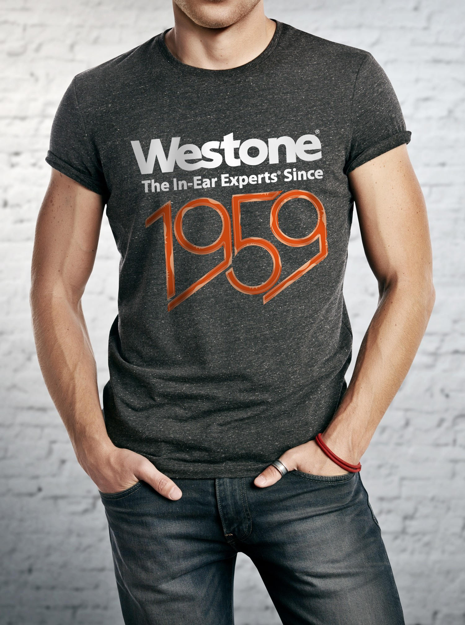 Westone Since 1959 T-Shirt Mens, 2XL, Charcoal