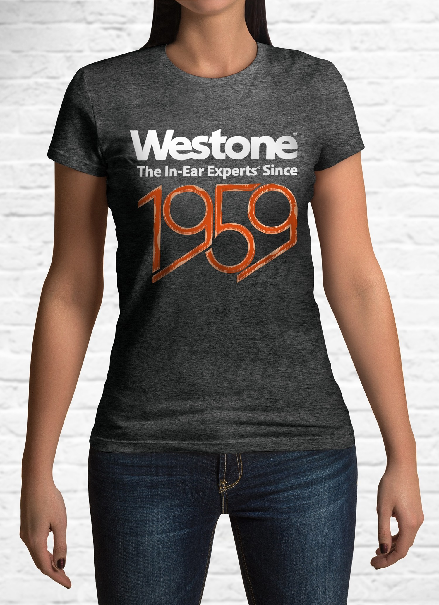 Westone Since 1959 T-Shirt Womens, Medium, Charcoal