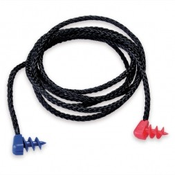 Black Nylon Cord with Red and Blue Screw Ends