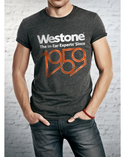 Westone Since 1959 T-Shirt Mens, Small, Charcoal
