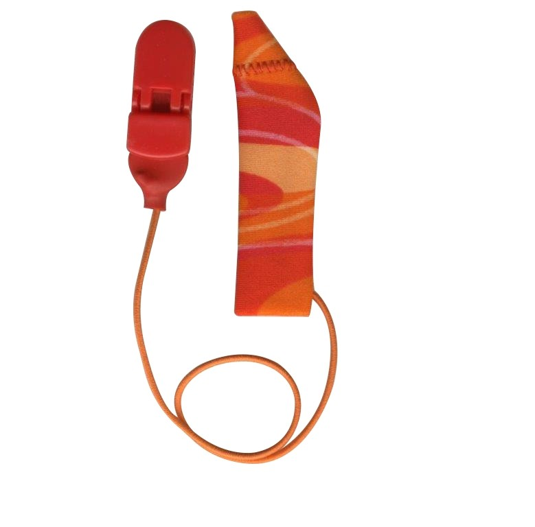FM System, Monaural (single), with cord, Red/Orange