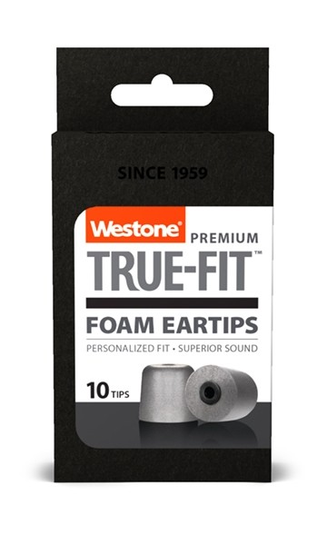 True-Fit Foam Eartips - 12.6mm box front