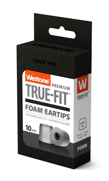 True-Fit Foam Eartips - 12.6mm box side