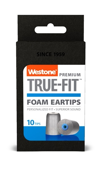 True-Fit Foam Eartips - 14.9mm box front