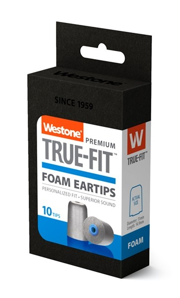 True-Fit Foam Eartips - 14.9mm box side