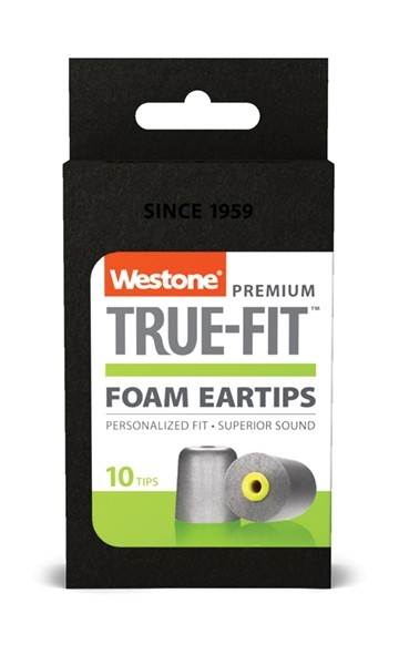 True-Fit Foam Eartips - 11mm box front