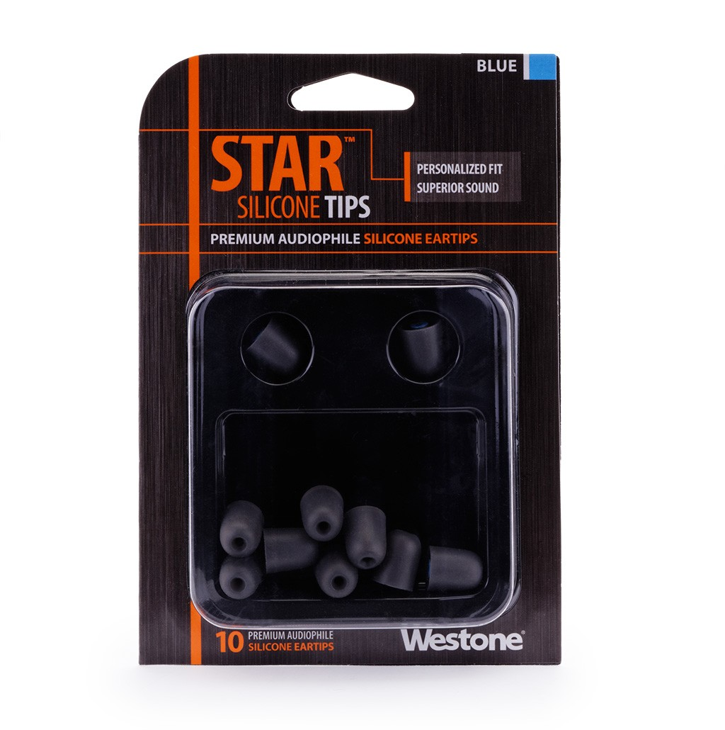 STAR Silicone Eartips 13mm - Blue package