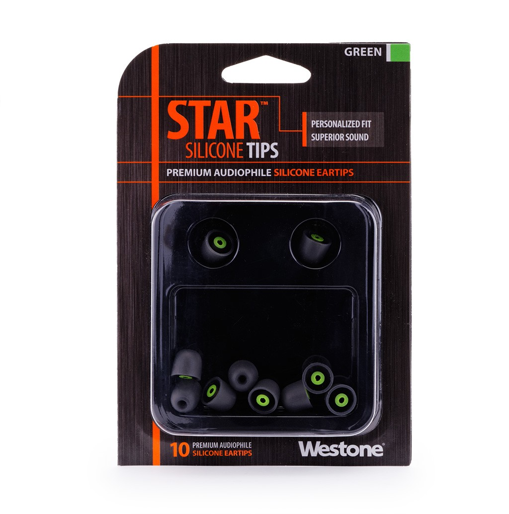 STAR Silicone Eartips 10mm - Green package