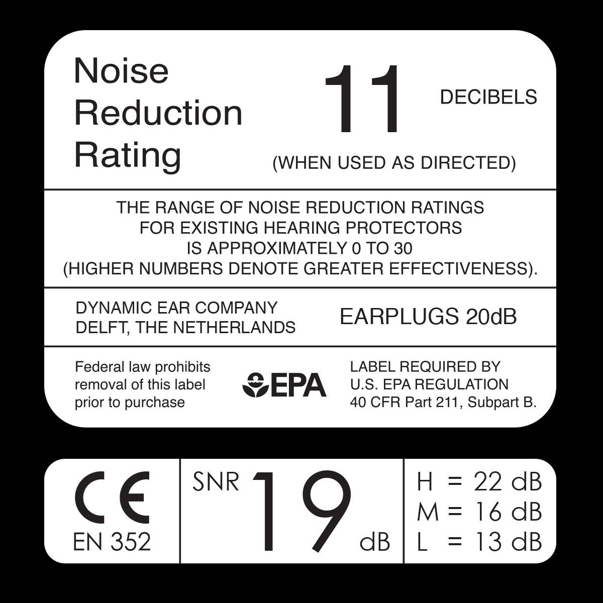 Filtered Foam Plug - from Dynamic Ear NRR