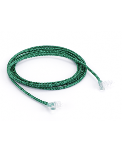 Nylon Cord with Screw Ends, Green
