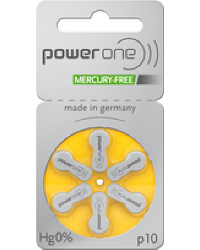 Power One Mercury Free Batteries - Size 10 (60 pc)