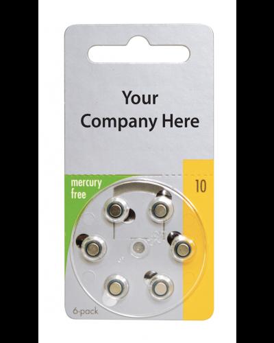 Varta Mercury-Free Private Label Batteries - Size 10