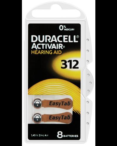 Duracell Activair Batteries Size 312