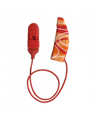 Original, Monaural (single), with cord, Red/Orange