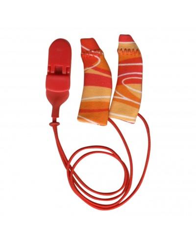 Original, Binaural (dual), with cord, Red/Orange