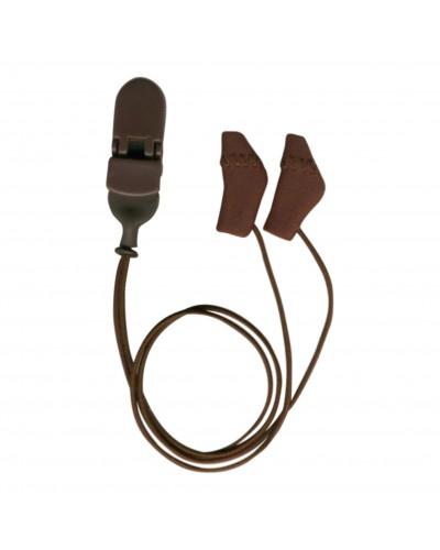 Micro,Binaural (dual), with cord, Brown