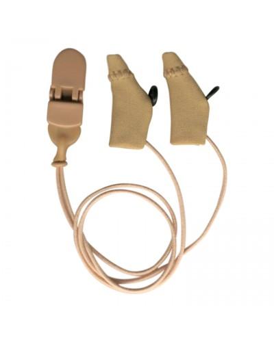 Mini Curved, Beige, Binaural (dual), with cord, for eyeglasses
