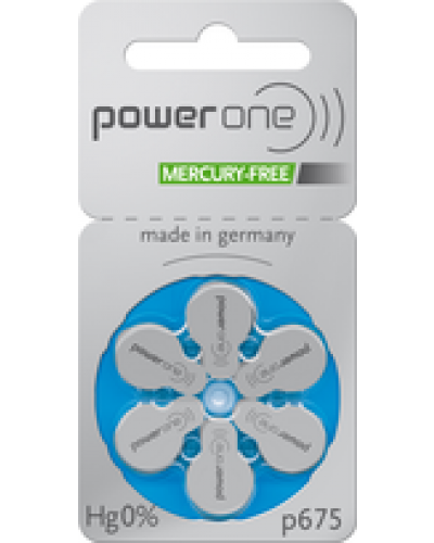 Power One Mercury Free Batteries - Size 675 (60 pc)