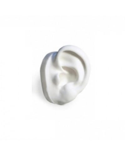 White Silicone Display Ear