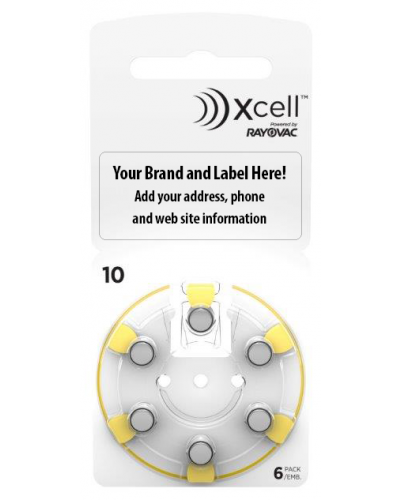 Xcell Private Label Batteries Size 10