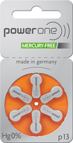 Power One Mercury Free Batteries - Size 13 (60 pc)