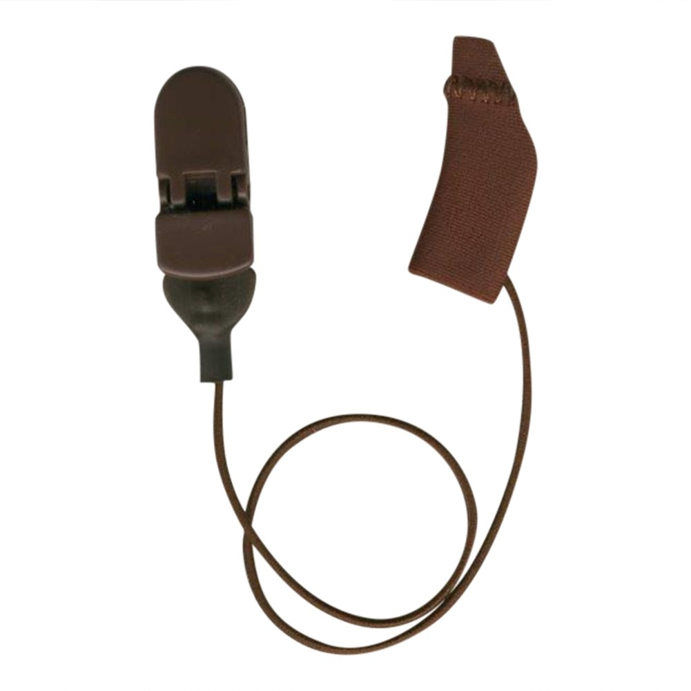 Mini Curved, Monaural (single), with cord, Brown