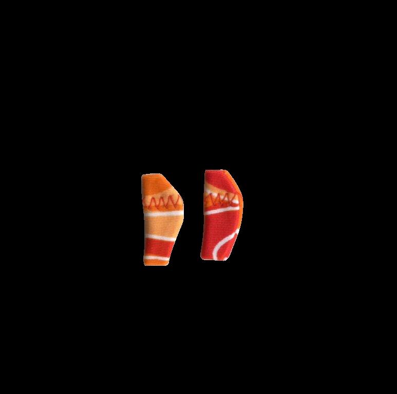 Micro, Binaural (dual), without cord, Red/Orange