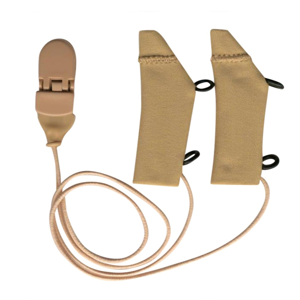 FM System, Beige, Binaural (dual), with cord, for eyeglasses