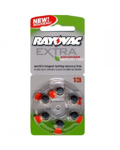Rayovac EXTRA Mercury Free Zinc Air Batteries