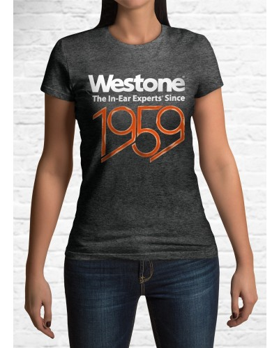 Westone Since 1959 T-Shirt Womens, Small, Charcoal