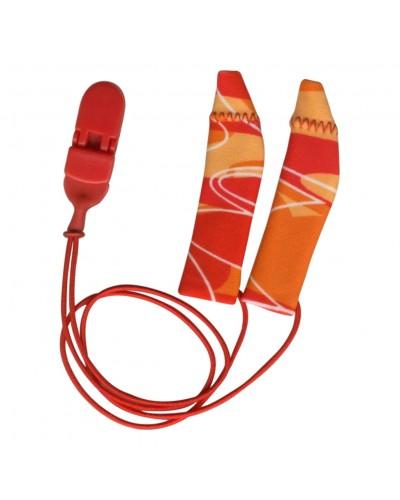 FM System, Binaural (dual), with cord, Red/Orange