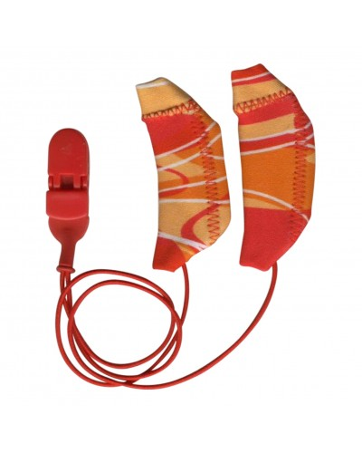 Cochlear, Binaural (dual), with cord, Red/Orange