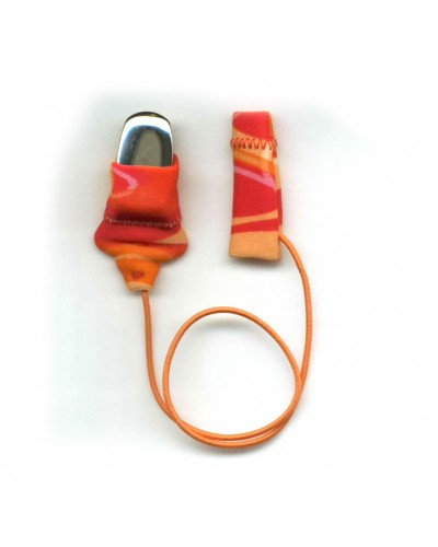 Mini Squared, Monaural (single), with cord, Red/Orange