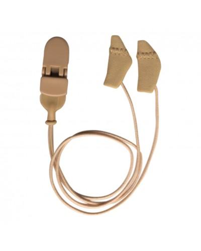 Micro, Binaural (dual), with cord, Beige